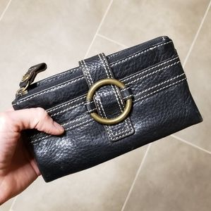 Black leather wallet- Fossil